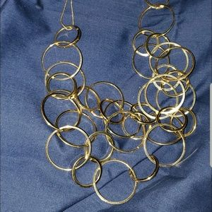 💚 Chico's gold hoops necklace